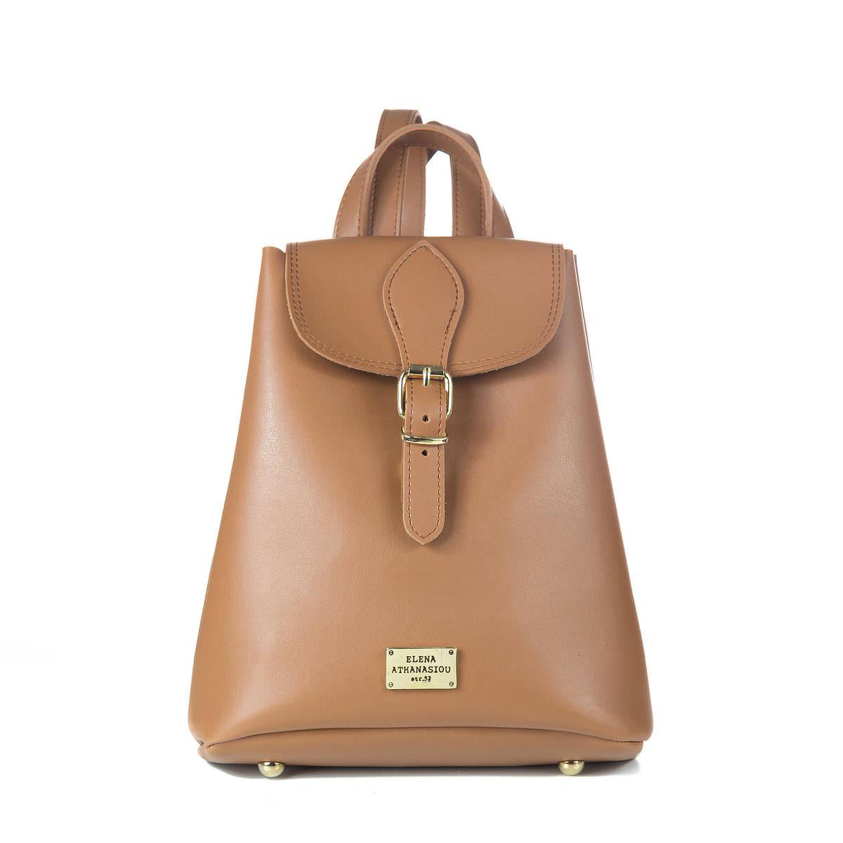 Backpack Mini Cognac - Δερμάτινες Γυναικείες Τσάντες  b0fdcff5120