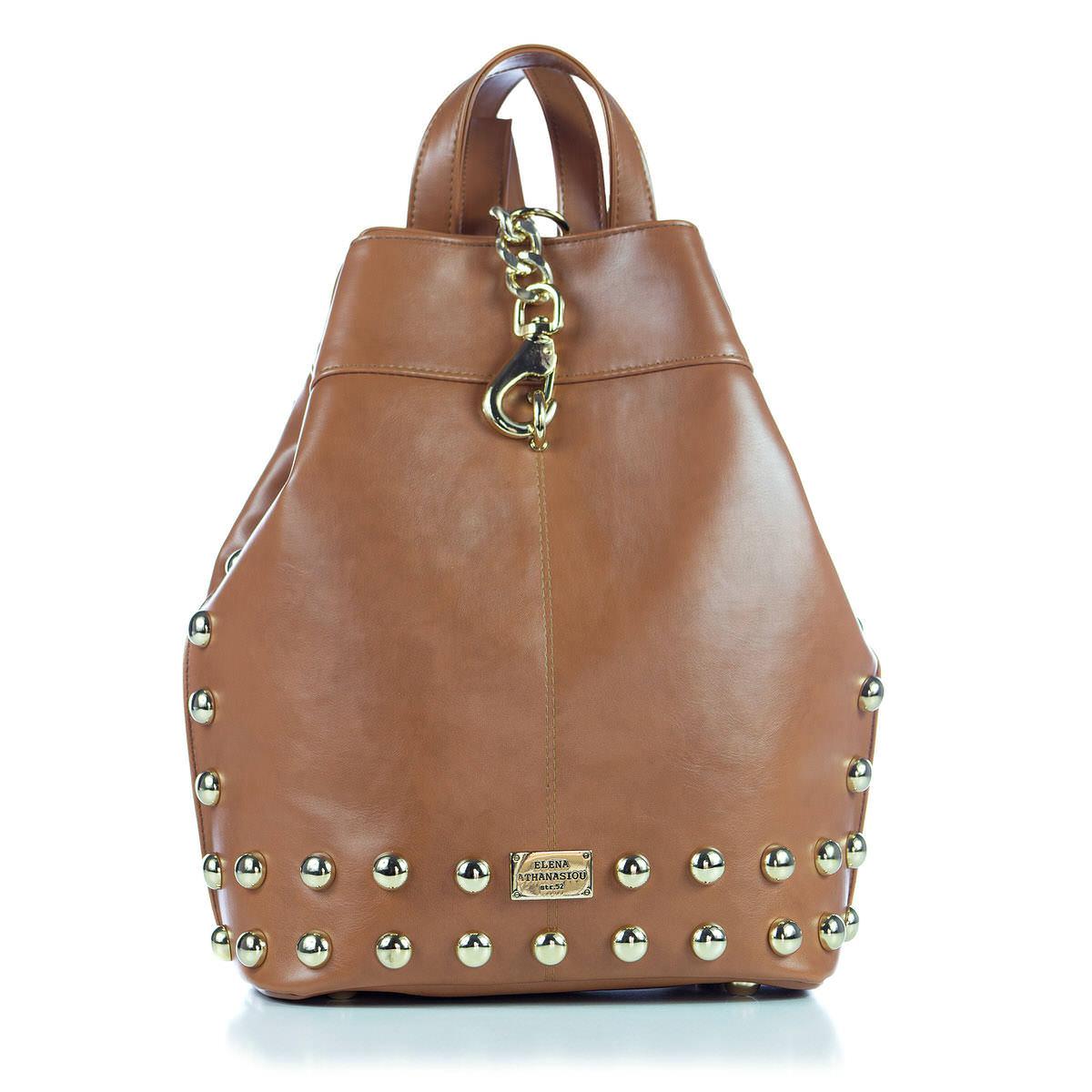 Backpack Cognac - Δερμάτινες Γυναικείες Τσάντες  4b17871c6c4