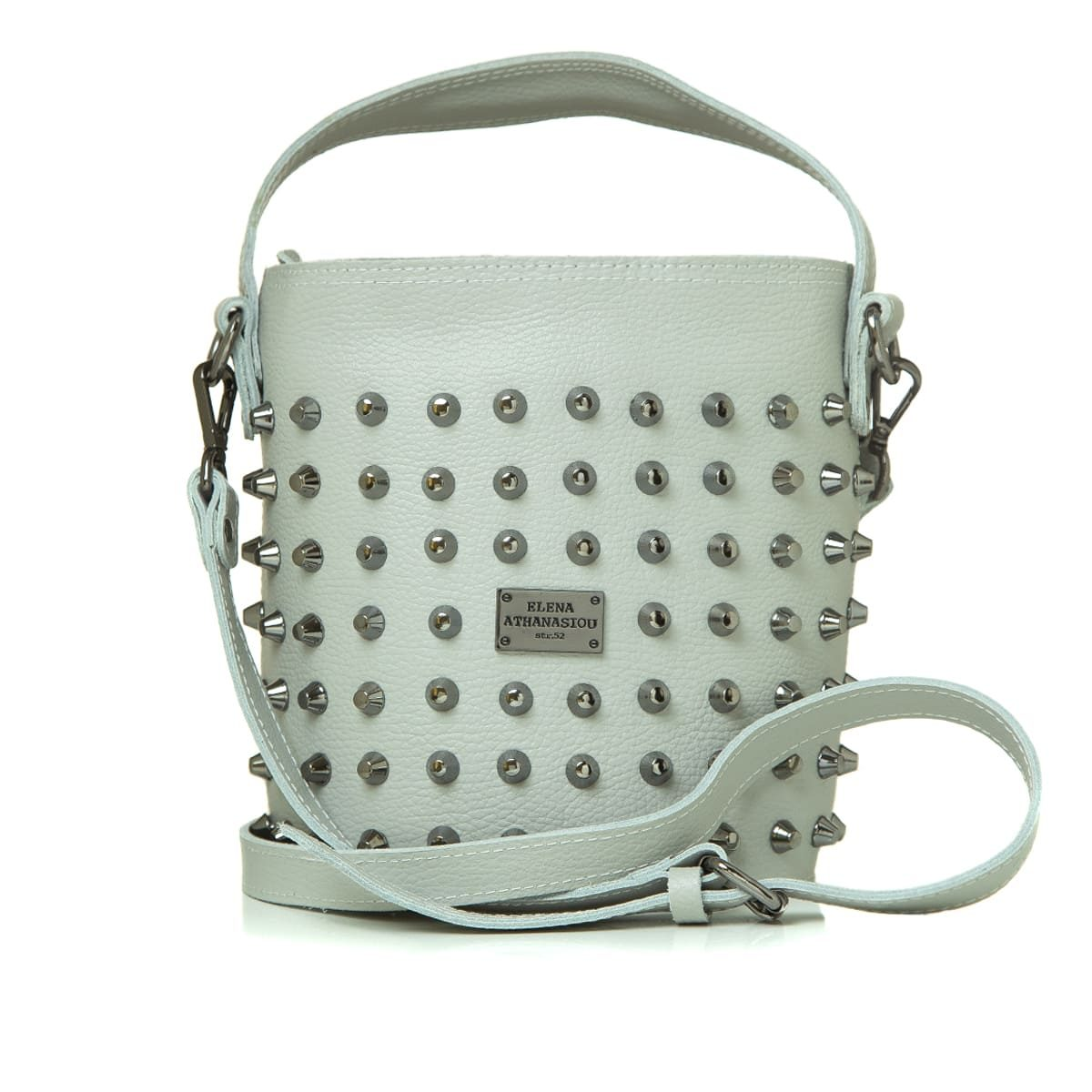 Elena Athanasiou Bags Basket Ice Grey Large