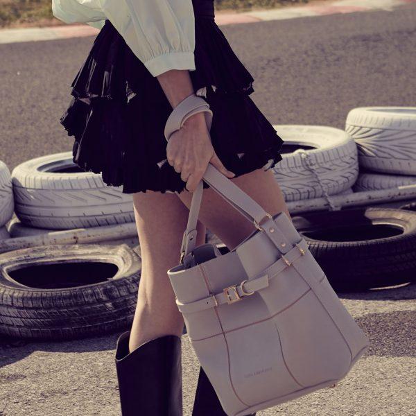 Elena Athanasiou Bags Puzzle Bag Ice Grey L Size