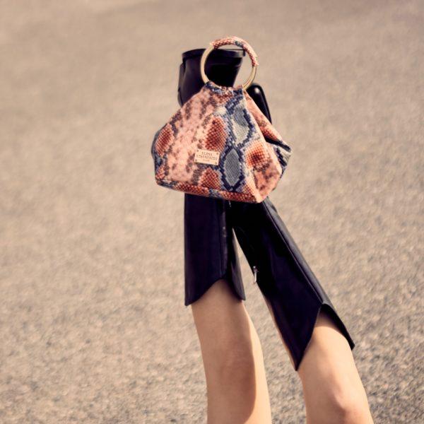 Elena Athanasiou Bags Bracelet Snake Pattern Pink Blue