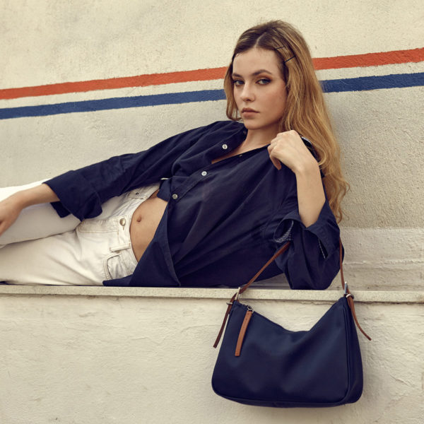 elena athanasiou bags ss20 into the grove leather bags vintage baguette navy blue