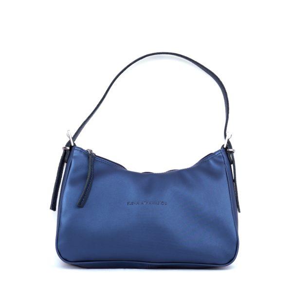 Vintage Baguette Metallic Blue   Elena Athanasiou Bags   Not The Ordinary