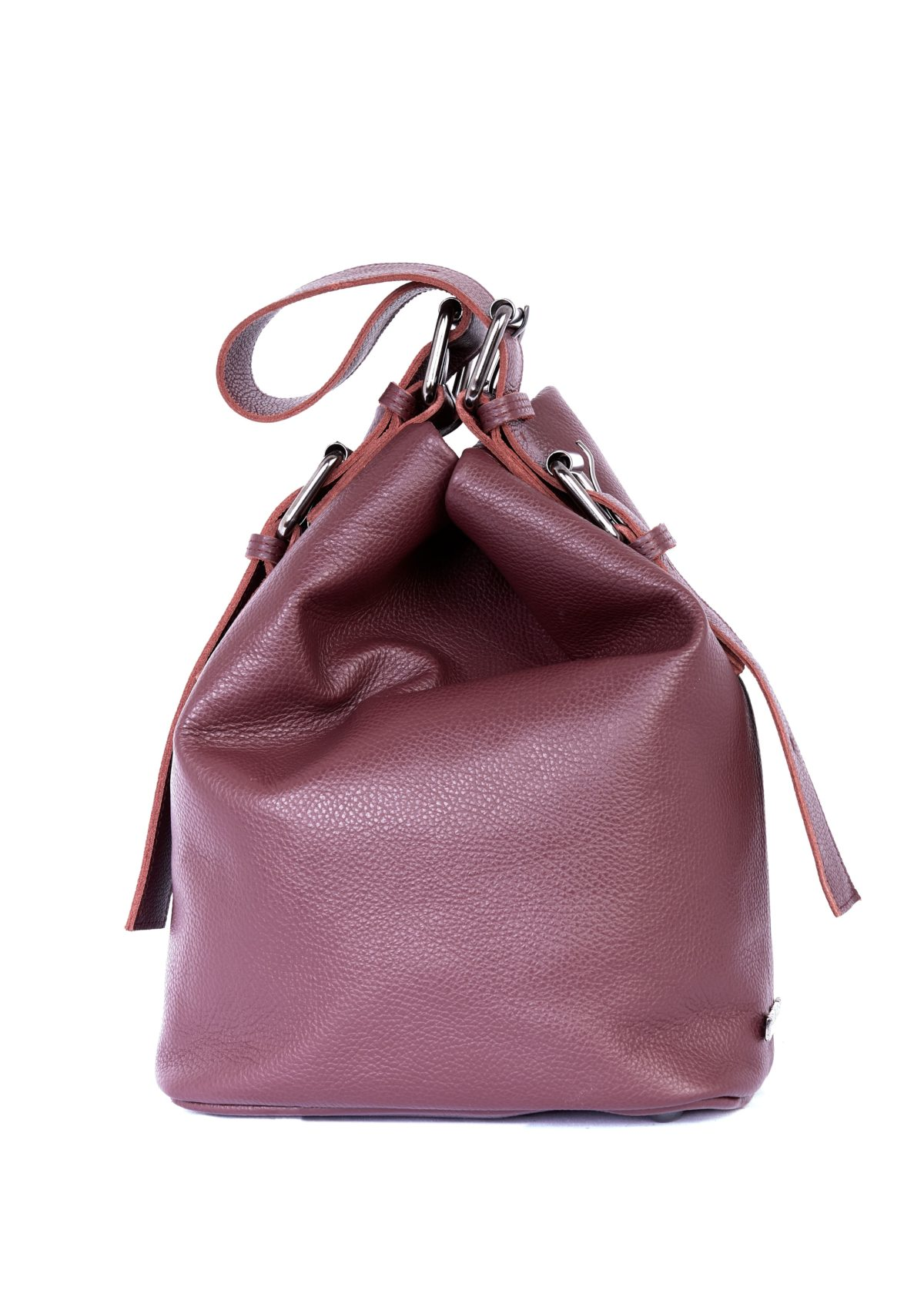 Day to Evening Pouch Bag L Burgundy | Elena Athanasiou Bags | Not The Ordinary FW21 Collection