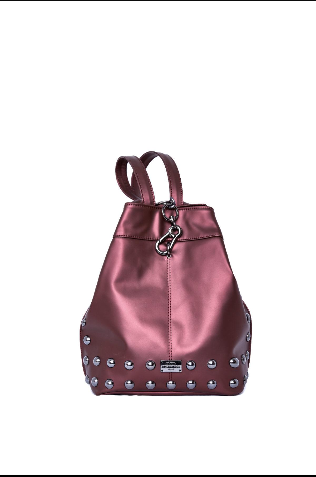 elena athanasiou bags backpack burgundy