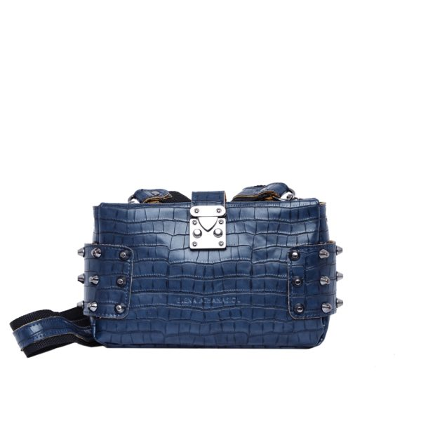 elena athanasiou city lady clutch croco blue