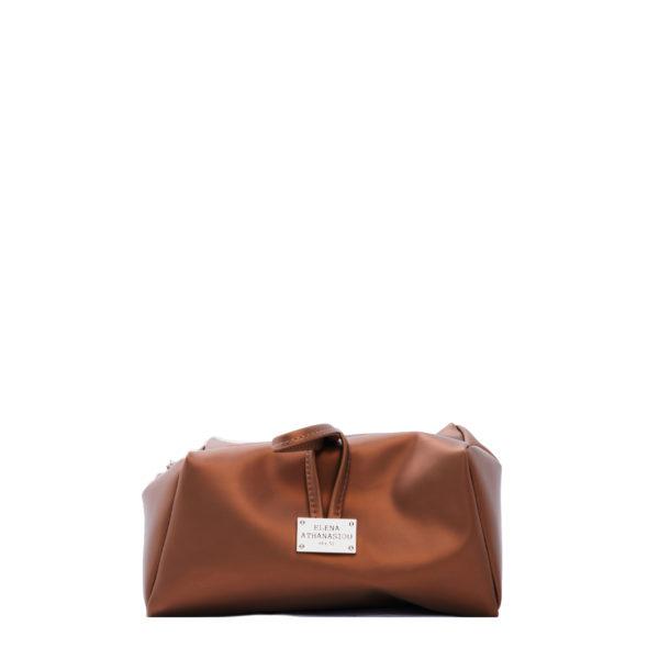 elena athanasiou bags lunchbag caramel cognac