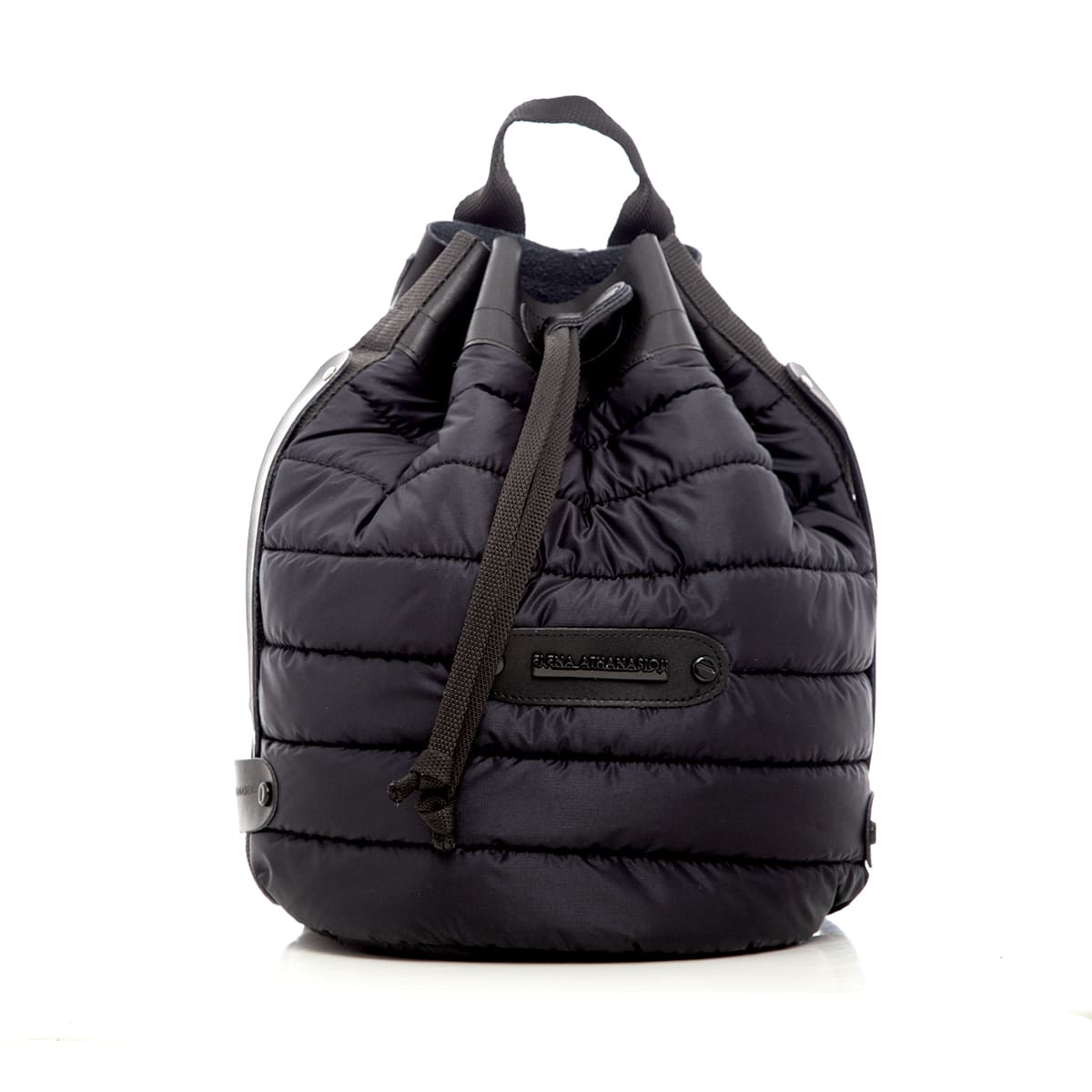 Puffer Backpack Black elena athanasou bags