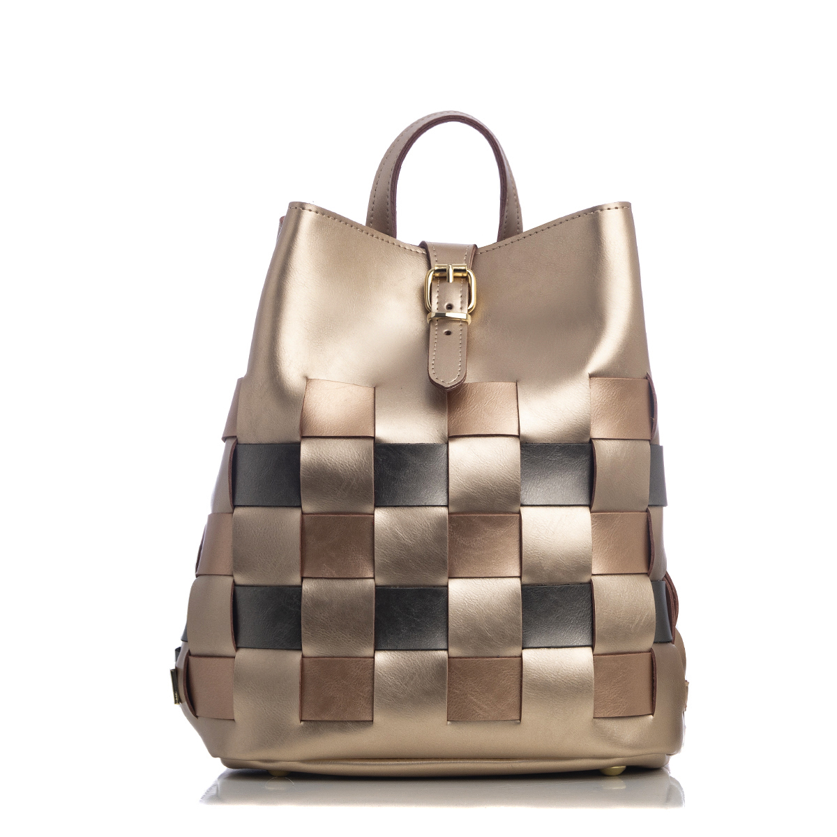 Straw Backpack Multicolored Gold Elena Athanasiou Bags