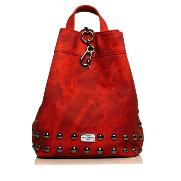 Backpack Jean Pattern Red