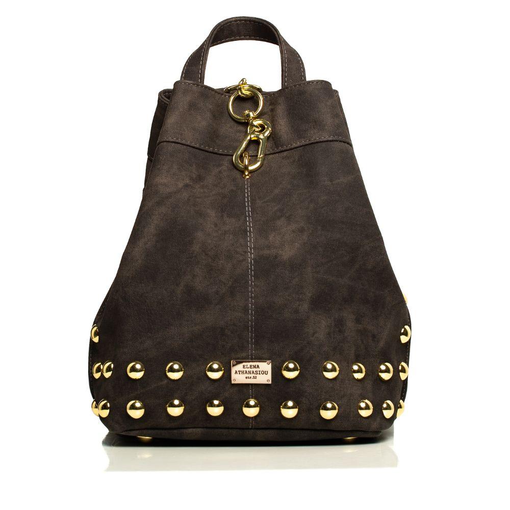 Backpack Jean Pattern Grey