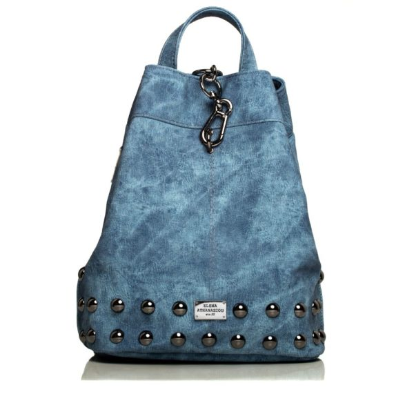 Backpack Jean Pattern Blue