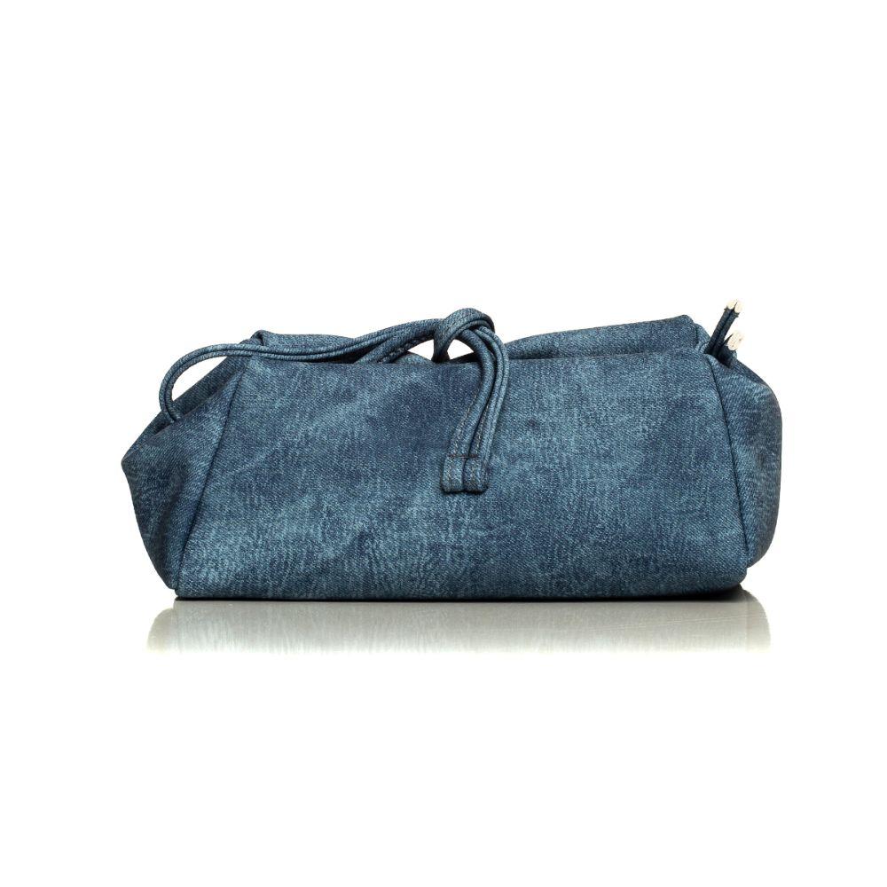 Large Jean Pattern Blue
